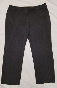 a652cbc07d8 LANE BRYANT Charcoal Gray Dress Pants Slacks Plus Size Women s 20 Avg  Career EUC  LaneBryant  DressPants