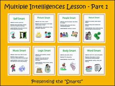 The Responsive Counselor: Multiple Intelligences Lesson - Part 1 Multiple Intelligences Survey, Multiple Intelligences Activities, School Counselor Lessons, Elementary School Counseling, Learning Style Inventory, Learning Styles, Mind Up Curriculum, Student Learning Objectives, How To Start Homeschooling