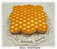 Silvia's Tortenträume: Pfirsich Torte Cake Tortenguß Gitter Rezept https://www.facebook.com/SilviasTortentraeume/photos/pcb.623892737711718/623892701045055/?type=1&theater
