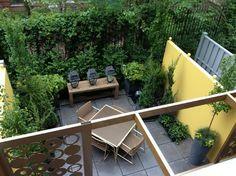 Urban Oasis: a city courtyard garden eclectic patio