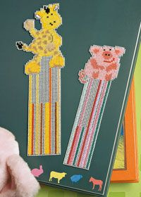 Free Anchor cross stitch chart: bookmarks, giraffe and pig