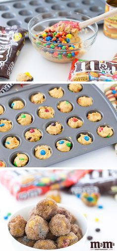 You'll take any excuse to celebrate with this recipe for M&M Pumpkin Spice Donut Holes—back-to-school snack time, saturday morning treat, you name it! Thanks to the quick and easy prep time, scrumptious combination of colorful M&M chocolate candy, fall pumpkin spice, and cinnamon and sugar-coated flavor, it's no wonder this recipe is a hit! Plus, you can find everything you need to make it at your local Kroger.