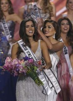 Miss Universe, Paulina Vega, called out Donald Trump's scathing remarks about Mexicans today but said she will not give up her crown. Natalie Morales, Lisa Vanderpump, Kristin Cavallari, Donald Trump Fired, Miss Colombia, Pageant Crowns, John Trump, Miss Usa, Steve Harvey