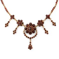 Bohemian Garnet Floral Fringe Necklace  late-nineteenth/early-twentieth century