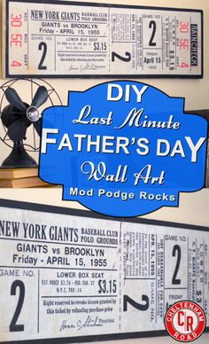 Easy to make, inexpensive, Father's Day gift idea.  Totally customize-able.  Similar ones in stores cost a lot but this clocked in at under $30.  So you don't spend much but it looks like...A Big Ticket Item!!! (sorry)