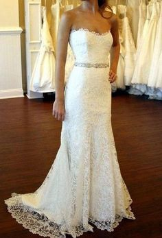 Gorgeous Lace Wedding Dress Lace Wedding Dress by RomantourBridal, $224.99. I love this