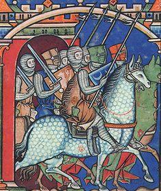Miniatuur uit de Maciejowski Bijbel, ca 1250.