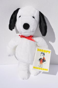 SOLD. NEW Vintage Snoopy and His Wardrobe Stuffed by FinchAvenueVintage