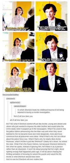 Archie is what Sherlock could have been. <<< I think, he looks a little bit like kid Sherlock Sherlock Holmes, Sherlock Fandom, Sherlock John, Jim Moriarty, Sherlock Quotes, Watson Sherlock, Johnlock, Narnia, Gossip Girl