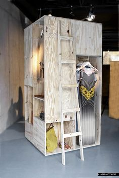 Zalando pop up shop - Sigurd Larsen Idea could easily be modified for jewelry & would be a refreshing change from festival tent cities!