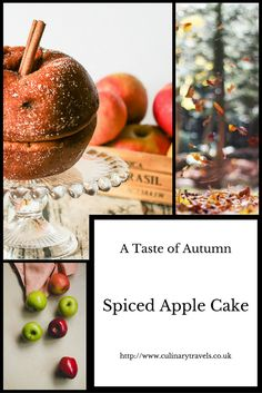 Georgina Ingham | Culinary Travels Photograph (Pin) Autumnal Spiced Apple Cake - A true taste of Fall