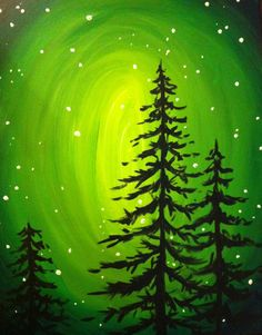 I am going to paint Glowing Evergreens at Pinot's Palette - Lakewood to discover my inner artist!