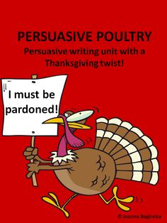 A fun, persuasive writing unit with a Thanksgiving twist!$