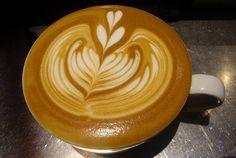 Double heart Rosetta Latte art  <3