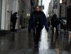 Street style at New York Fashion Week Fall 2017.