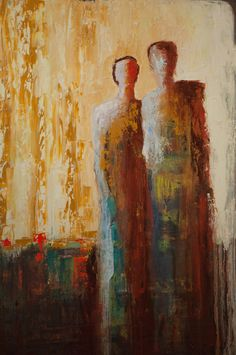 """Together"" by Shelby McQuilkin Abstract figurative oil painting"