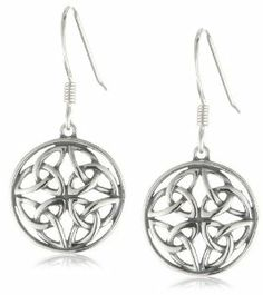 Sterling Silver Celtic Knot Round Drop Earrings Amazon Curated Collection. $23.00