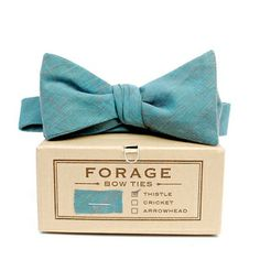 pool blue chambray {bow tie} *sold out but so cute