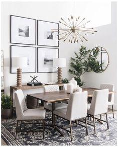 Dining Room Console, Dining Room Walls, Dining Room Design, Dining Room Furniture, Small Dining Rooms, Dining Room Modern, Living Rooms, Small Living, Modern Living