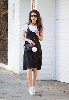 Muôn kiểu mặc đẹp với áo thun trắng 1287