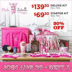 Pink Zebra is having a KIT SALE ~ 30% OFF either kit!!! NOW is a GREAT time to start your journey with an amazing company! We just released our Fall/Winter/Holiday catalog and it's AMAZING!! 60% of our sales come from the next four months. Please message me to get started or if you have questions!!