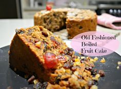 Old Fashioned Boiled Fruit Cake from pinkpostitnote.com - no long soaking of fruit in brandy, just a ten minute boil of the wet ingredients, add to the dry and bake - this cake keeps for weeks and is so moist and delicious!