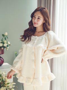 made in korea 东大门自制睡衣批发品牌网店 Night Suit For Girl, Night Dress For Women, Cute Nightgowns, Nightgowns For Women, Cute Sleepwear, Sleepwear Women, Teen Fashion Outfits, Cool Outfits, Night Gown Dress