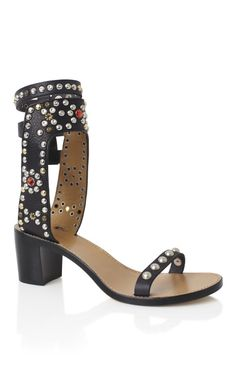 Shop Black Caroll Elvis Sandal by Isabel Marant for Preorder on Moda Operandi Chanel Iman, Fashion Shoes, Fashion Accessories, Blue Suede Shoes, Swarovski, Dream Shoes, Buy Shoes, Shoe Boots, Heels