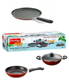 Heat up, Cook Up and Serve right !! Prestige Omega Deluxe Cookware Set - 3 Pcs   1 Lid, http://www.snapdeal.com/product/prestige-omega-deluxe-cookware-set/1462511