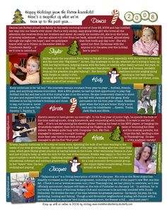 Great ideas for fun and colorful Christmas letters everyone will love to recieve