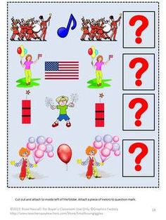 America: Celebrating America Printable File Folder Games PK-K, Special Education-All children love parades, picnics and celebrations. This packet Celebrating America Printable File Folder Games PK-K, Special Education combines the love of parades and picnics with the fun of file folder games.