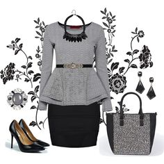 Para uma combinaçõa classica saia preta com blusa em cinza.