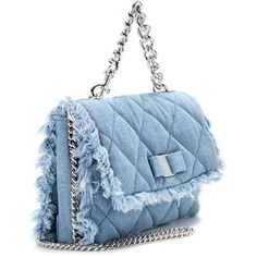 Salvatore Ferragamo Gelly Quilted Denim Shoulder Bag ($1,160) ❤ liked on Polyvore featuring bags, handbags, shoulder bags, denim handbags, salvatore ferragamo shoulder bag, salvatore ferragamo handbags, shoulder bag purse and salvatore ferragamo purse