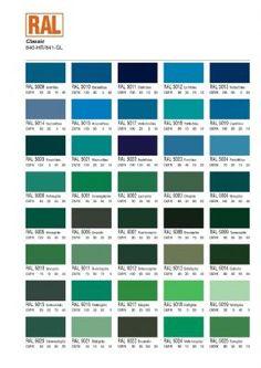 ral colour chart | paint color chart, ral colour chart