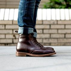 Thursday Boot Co. - Wingtip   Brown. Classic wingtip lace up boot. Handmade with brown full grain leather for comfort & durability. Free shipping & returns.