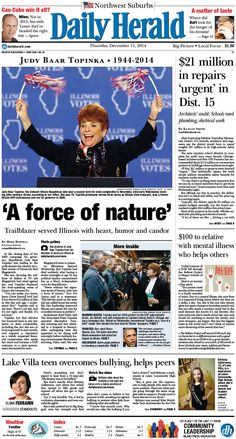Daily Herald front page, Dec. 11, 2014; http://eedition.dailyherald.com/