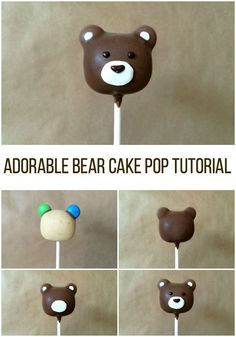 How cute!! And perfect for a Baylor party. // Adorable Bear Cake Pop Tutorial