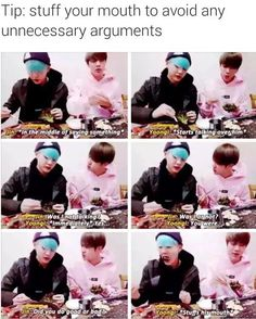 I luv thisSuga's so tough and yet he turns into a kid when Jin gets mad at himMomma Jin