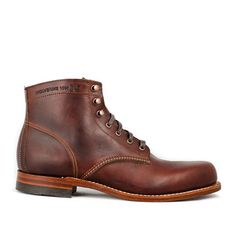 Picked up a pair of The Wolverine 1000 Mile Boots. Great riding boot, I just wish I could have gotten a pair that were taller. Sock Shoes, Men's Shoes, Shoe Boots, Fashion Shoes, Mens Fashion, Leather Boots, Me Too Shoes, Men Dress, Slippers