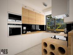 white / wood texture modern kitchen