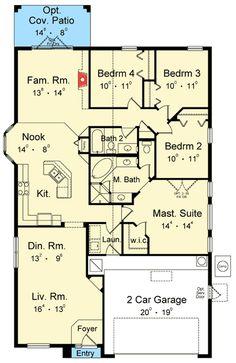 35 Best 4-bedroom house plans images | Floor plans, Home plans ...