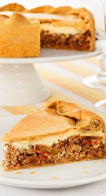 Torta de paleta desfiada com catupiry
