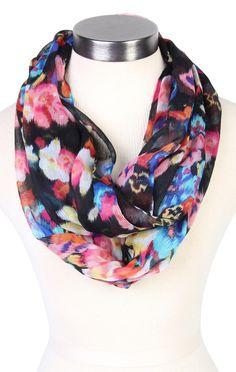 Deb Shops colorful #floral #print #scarf