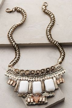Anthropologie Tantalize Bib Necklace #anthrofav #greigedesign