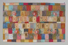 "Ulla Pohjola ~ ""The Fortunetelling"" (2005) machine-made embroidery; cotton, silk, viscose, metal, playing cards 46.5 x 29.5 cm via ullapohjola.fi"