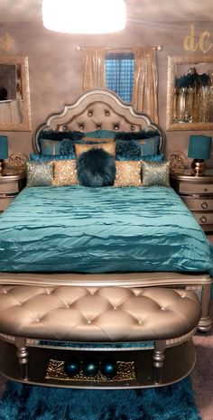 Bedroom Design Ideas – Create Your Own Private Sanctuary Cute Bedroom Ideas, Cute Room Decor, Girl Bedroom Designs, Room Ideas Bedroom, Bedroom Themes, Bedroom Sets, Bedroom Decor, First Apartment Decorating, Glam Bedroom