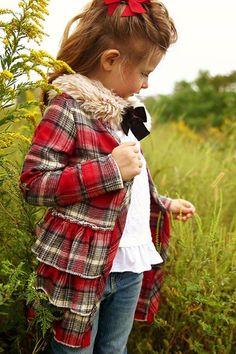 Gretchen in plaid flannel-Violette Field Threads