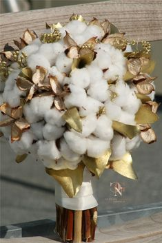 This bridal bouquet is perfect for an autumnal country wedding. Made entirely of cotton. Designed and created by GNC Luxury Invitations & design Invitation Design, Invitations, Autumnal, Elegant, Floral Wedding, Floral Design, Bouquet, Bridal, Country