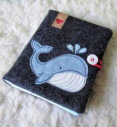 Der Wal macht sich besonders gut auf Kindersachen - Applikationsvorlage via Makerist.de