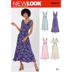 Dress Pattern New Look 10088 Tied or Cold Shoulder Dress Sz New Look Dress Patterns, New Look Dresses, Dress Sewing Patterns, New Dress, Summer Dresses, Summer Dress Patterns, Sun Dresses, Pattern Dress, Clothing Patterns